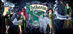 Disney Hogwarts students: Slytherin by Willemijn1991.deviantart.com on @deviantART
