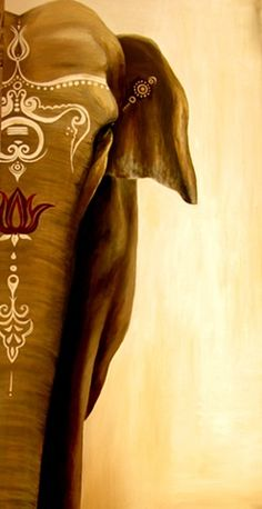 Beautiful artwork of elephant by McKenna Van Koppen - beautiful, love this Image Elephant, Elephant Love, Elephant Artwork, Elephant Paintings, War Elephant, Elephant Design, Arte Ganesha, Elefante Hindu, Arte Fashion