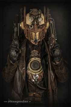 Some of these full suits look almost sci-fi steampunk. Full on steampunk battle armour. Steampunk Cosplay, Mode Steampunk, Style Steampunk, Steampunk Clothing, Steampunk Fashion, Steampunk Outfits, Armor Clothing, Mens Steampunk Costume, Victorian Fashion