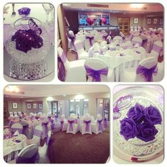 #nicheevents #crownofcrucis #centerpieces #fishbowls #roses #butterflies #chaircovers #organzasash #purpletheme #cadburypurple #picoftheday #photooftheday #follow4follow #wedding #eventplanner #eventstylist #instalike #instawedding #instabride #like4like