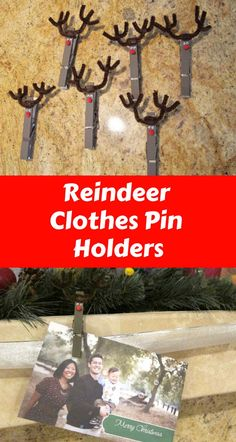 Want a fun craft for the kids to help decorate your house for the Holidays? These fun clothes pin reindeer is a fun way to hold and showcase all of those fun christmas/holiday cards you get each year.