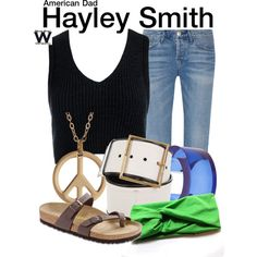 Inspired by Rachael MacFarlane as Hayley Smith on American Dad. America Dad, Dad Outfit, Marley Rose, Character Outfits, Polyvore Fashion, Yves Saint Laurent, Dads, Rachael Macfarlane, American