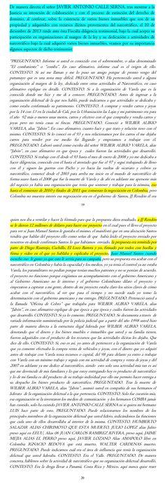 Declaraciones a la Fiscalía del capo JAVIER ANTONIO CALLE SERNA, donde confiesa a la justicia que entregó 12 millones a JJ Rendón, asesor del Presidente Santos.