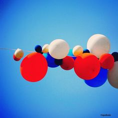 #Bellissimi Super colored balloon on blue #sky
