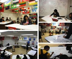 Eisenhower HS created a completely interactive classroom using @Evernote Pinterest & IdeaPaint. You can too, just click.