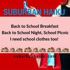Suburban Haiku by Peyton Price is inspired by life in the suburbs— Back To School Breakfast, Back To School Night, I Want Him, Haiku, Poetry, Humor, Life, Humour, Funny Photos