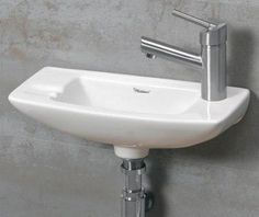 Bathroom Corner Sinks for Small Spaces | ... WH103 Small Porcelain Wall Mounted Ceramic Bathroom Basin Sink