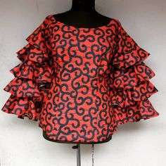 Stylish Ankara Styles For Ladies - Naija Info Short African Dresses, African Blouses, African Tops, African Print Dresses, African Fashion Ankara, Latest African Fashion Dresses, African Print Fashion, African Attire, African Wear