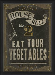 House Rule No 2 Framed Graphic Art