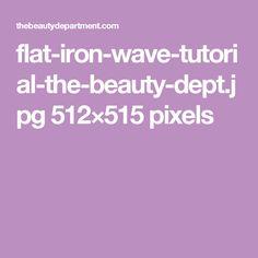 flat-iron-wave-tutorial-the-beauty-dept.jpg 512×515 pixels