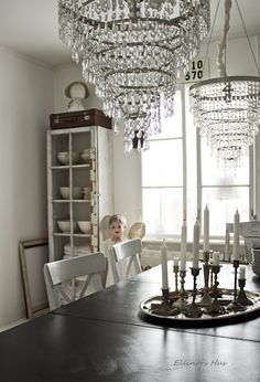 Those chandeliers above the.table!