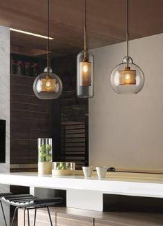 Chiswick Glass Pendant Light – Tudo And Co Kitchen Lighting Fixtures, Kitchen Pendant Lighting, Led Pendant Lights, Kitchen Pendants, Led Chandelier, Glass Pendant Light, Pendant Lamp, Light Fixtures, Ceiling Pendant