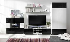 Sirna Entertainment Unit for TVs up to Wade Logan Colour: White/Purple Buy Living Room Furniture, Home Furniture, Glass Shelves, Cheap Furniture, Adjustable Shelving, Storage Spaces, Home Furnishings, Flat Screen, House Design