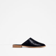 Image 1 of FLAT LEATHER SLIPPER SHOES from Zara