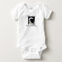 Baby Gerber Bodysuit w/ K-CEE Dog Photo - baby gifts child new born gift idea diy cyo special unique design