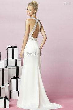 Mermaid Wedding Gowns Lace Halter Backless Crystal Bead Beading