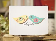Wedding Wishes Card by Ashley Cannon Newell for Papertrey Ink (October 2014)