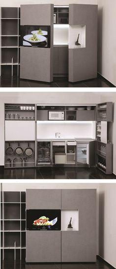 Pop-up #kitchen PIA by Dizzconcept by Inkea
