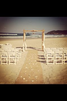 This is exactly what I want me wedding to be !!! Tallows beach, byron bay !!! Karli & Graeme (one day)