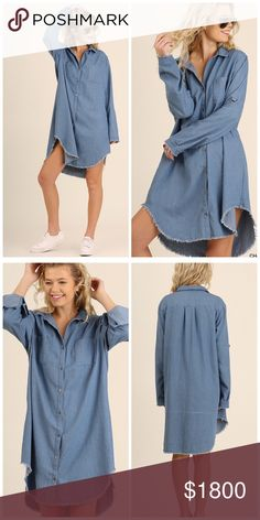 """*coming soon chambray dress """"Like"""" to be notified of arrival! Dresses"""