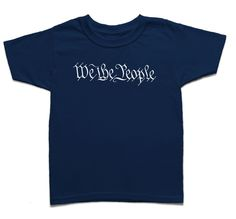 "The front of this screen printed short sleeve cotton youth t-shirt features the first three words, ""We The People"", from the United States Constitution Preamble. The back features our small OG logo. S"