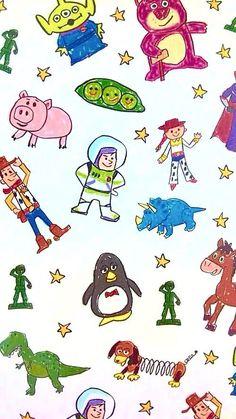 รูปภาพ toy story, disney, and wallpaper Cartoon Wallpaper, Disney Phone Wallpaper, Iphone Wallpaper, Phone Backgrounds, Art Disney, Disney Kunst, Disney Toys, Disney Pixar, Disney Films
