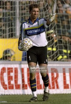 Gianluigi Buffon of Parma in action during the Italian Serie A match against Inter Milan played at Stadio Tardini in Parma, Italy. The game finished in a 1-1 draw. \ Mandatory Credit: Claudio Villa /Allsport