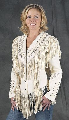 Ladies Fancy Dancer Western Leather Jackets, SASS, Cowgirl Rodeo