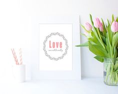Love Unconditionally simple JPEG in 4 sizes by Clickatoos on Etsy