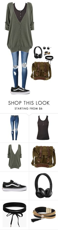 """First Day of school..fun"" by bronwyn-black ❤ liked on Polyvore featuring Ragdoll, Belstaff, Vans, Beats by Dr. Dre, Boohoo and Simons"
