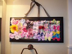 7 ideas for girls hair bow holders! | How Does She...