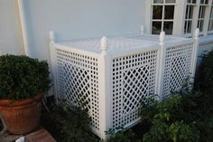 Accents of France - Treillage Ac unit cover Outdoor Decor, Home Projects, Home, Outdoor Space, Outdoor Living, House Exterior, Outdoor Projects, Ac Unit Cover, Exterior