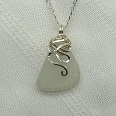 Sea Glass Pendant #sea glass beads & #sea charms: http://www.ecrafty.com/c-780-sea-glass-beads.aspx?pagenum=1===newarrivals=60