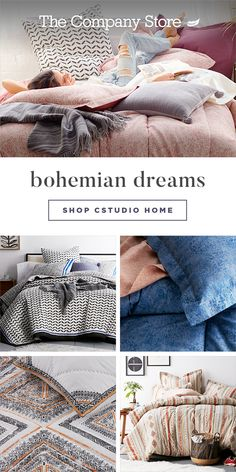 The perfect balance between good looks and can't-get-out-of-bed comfort. Mix and match a variety of styles for a finished boho bedroom look that reflects the beautiful depths of your personal style. Shop fashion bedding at The Company Store® today. Bohemian Bedroom Decor, Boho Decor, Bedding Inspiration, The Company Store, Pretty Room, Boho Bedding, Paint Colors For Living Room, Home Bedroom, Bedroom Ideas