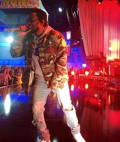 Kendrick Lamar Wearing Saint Laurent Military Jacket And Jeans