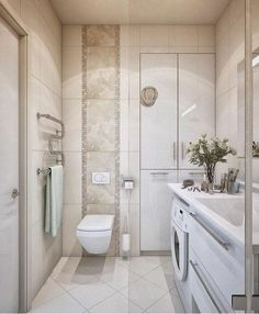 78 Exciting Modern And Luxury Bathroom Design Ideas For Small Bathroom Small Bathroom Floor Plans, Small Space Bathroom, Laundry Room Bathroom, Modern Bathroom Design, Bathroom Interior, Small Spaces, White Bathroom, Cream Bathroom, Compact Bathroom