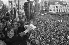 Huldiging Ajax op het Leidseplein, 1972 Europacup 1