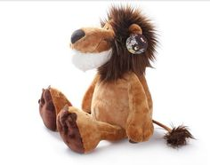 Cheap plush toy doll, Buy Quality plush toys directly from China cute plush toy Suppliers: Wholesale Germany NICI jungle brother lion Cute plush toy doll for birthday gift Lion Toys, Cute Lion, Cute Stuffed Animals, Cute Plush, Forest Animals, Plush Animals, Pet Beds, Plush Dolls, Gifts For Kids