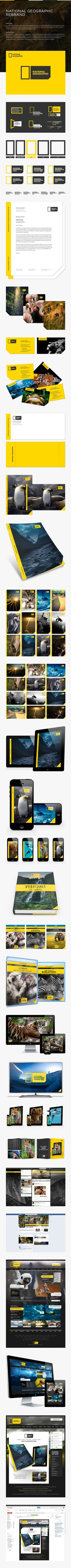 A complete rebranding of National Geographic. The two colors really work here. Adding in different type or views of the rectangle for each way NG is viewed