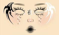 Punk Makeup, Edgy Makeup, Grunge Makeup, Eye Makeup Art, Crazy Makeup, Makeup Stencils, Graphic Makeup, Smoky Eye Makeup Tutorial, Makeup Face Charts