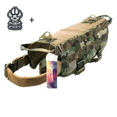 Tactical K9 Dog Molle Vest Military Training Harness with Handle,Medium CAMO #Ultrafun