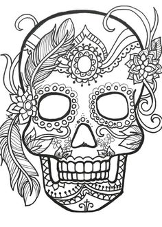tatto ideas 2017 10 sugar skull day of the dead coloringpages original art coloring book for adultscoloring therapy coloring pages for adults printable - Printable Coloring Book