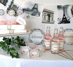Printable French Parisian Party Kit by PartyEverAfter on Etsy, $15.00