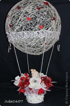 Свит-дизайн Бумагопластика: На большом воздушном шаре... Бумага гофрированная Свадьба. Фото 1