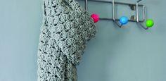 Winterwarme pashminasjaal | Madame Creatief (gratis patroon van Ponnekeblom)