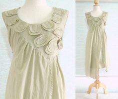 Biege Cotton Dress  Mini Dress Tea Length Dress Women by idea2wear