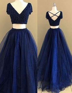 Simple Prom Dresses,New Prom Gown,Vintage Prom Gowns,royal Blue two pieces long prom dress, blue evening dress Homecoming Dresses Long, Prom Dresses Long With Sleeves, Tulle Prom Dress, Prom Dresses For Sale, Prom Dresses Blue, Short Sleeves, Maxi Dresses, Long Sleeve, Prom Gowns Vintage