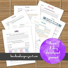7 free devotional worksheets for women - free printable pdf download from Her Binder Project - free calendar downloads for Christian women, moms, wives, college students, single women, bible study, small group, journal, prayer