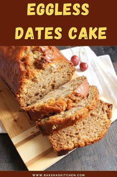 Eggless dates cake is a moist date cake recipe. This dates cake is a healthy cake recipe. I have added almonds in this tea time cake recipe. You can add walnuts instead of almonds to make it eggless dates and walnuts cake. Banana can be added to make it eggless dates banana cake. This eggless cake with dates can be prepared for picnics or can be packed in school snack box too. It is an easy eggless cake recipe which I made in oven. You can bake it in microwave or in a cooker too. Moist Date Cake Recipe, Eggless Dates Cake Recipe, Date And Walnut Cake, Healthy Cake Recipes, Cake Mixture, Snack Box, Almond Cakes, Tea Cakes, Picnics