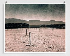 Drive-in Theater Photograph, Movie Theatre Photo, Apocalypse, Arizona Desert Photography